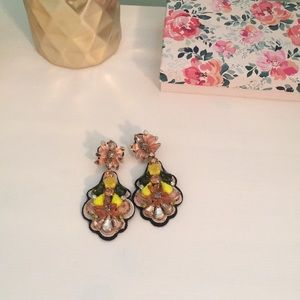 J Crew Embroidered Earrings